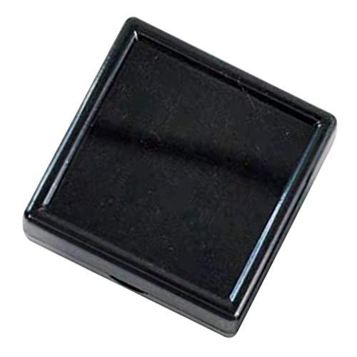 yotijar Caja de Acrílico del Organizador de La Caja de Almacenamiento de La Exhibición de La Joyería del Diamante de La Piedra Preciosa Preciosa - Negro, Los 5x5cm
