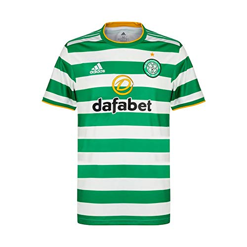 adidas Celtic FC Home Men's Soccer Jersey- 2020/21 (Small) Green/White