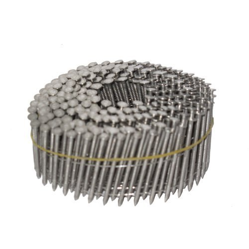 NailPro 2-1/2 Inch by 0.093 - 15 Degree Wire Coil - Stainless Steel - Ring Shank Siding Nail 3600 pc. / CTN by NailPro