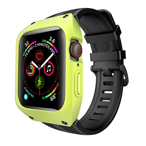 Case with Silicone Strap for Apple Watch Band Series 6 5 4 SE 3 40mm 44mm Sport Bracelet 38mm 42mm WristBand for iWatch Belt