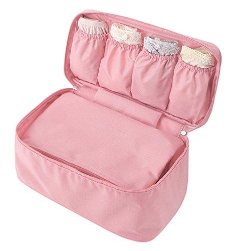 DELEY Portable Imperméable Soutien-Gorge Organisateur Bag Cosmétiques Sac De Rangement Rose