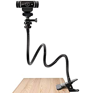 Pipishell 25 Inch Webcam Stand – Flexible Desk Mount Clamp Gooseneck Stand for Logitech Webcam C930e,C930,C920, C922x,C922, Brio 4K, C925e,C615