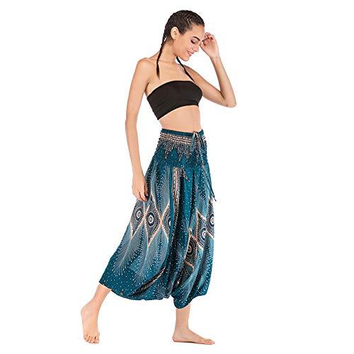 Boho Festival Pantalones Hippy Smock Pantalones de Yoga de Cintura Alta para Hombres Y Mujeres