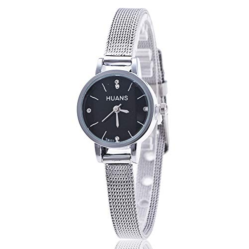 Relojes Para Mujer Moda mujer señoras plata acero inoxidable malla reloj de pulsera reloj de muñeca de acero inoxidable de cristal relojes de pulsera para mujeres Relojes Decorativos Casuales Para Niñ