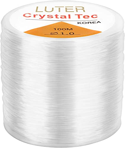 LUTER 1mm Clear Bead Cord Crystal Elastic Stretchy...