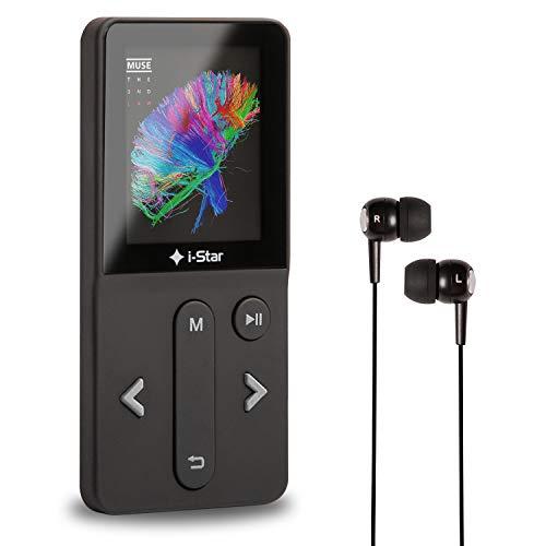MP3 Player mit Bluetooth, FM Radio und Voice Recorder 16GB, Mini Musik Player mit Kopfhörer, Speicher Erweiterbar bis 128 GB, Ideal für den Sport