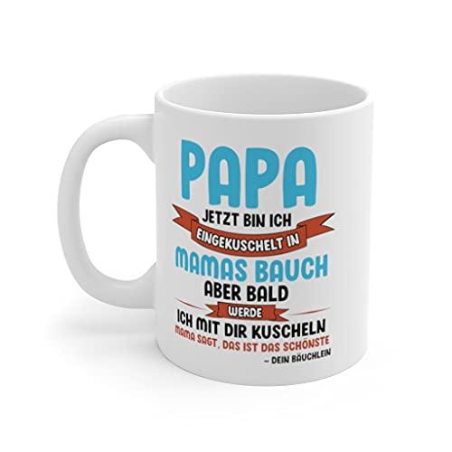 Werdender Papa Tasse Vater Geschenk Idee Schwangerschaft Verkünden Männer Vatertag Du Wirst Papa Überraschung Eltern