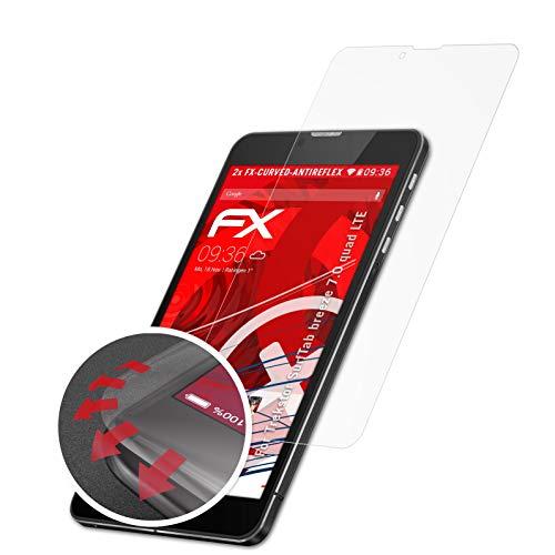 atFolix Schutzfolie kompatibel mit Trekstor SurfTab Breeze 7.0 Quad LTE Folie, entspiegelnde & Flexible FX Bildschirmschutzfolie (2X)