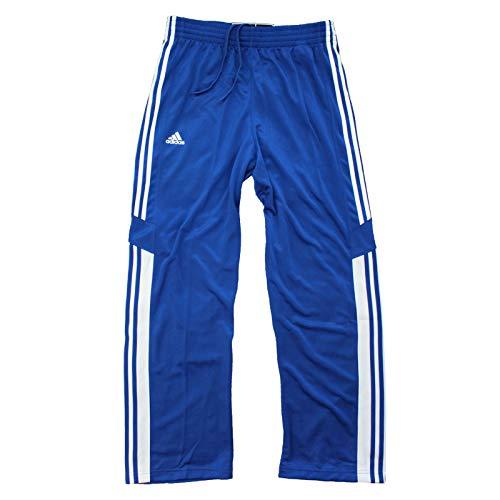 adidas ESS 3S Adibreak Track Pants Trainingshose Sporthose Hose Knopfleiste Blau, Größe:L, Farbe:Blau