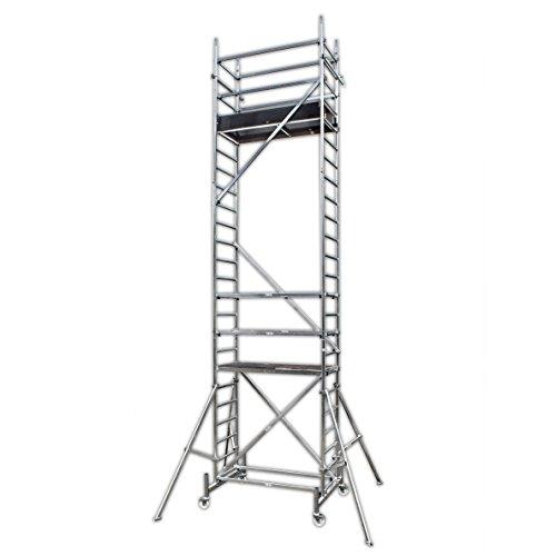 ALTEC Rollfix 700, Arbeitshöhe 7 m neu, inkl. Rollen (Ø 125 mm), Dreieckausleger und Wandanker, TÜV-geprüft,