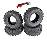 Kenda Bear Claw EVO ATV UTV All Terrain Mud Bearclaw Tires with Bottle Opener Keychain 4 Pack Set (26x9-12 Front 26x11-12 Rear)