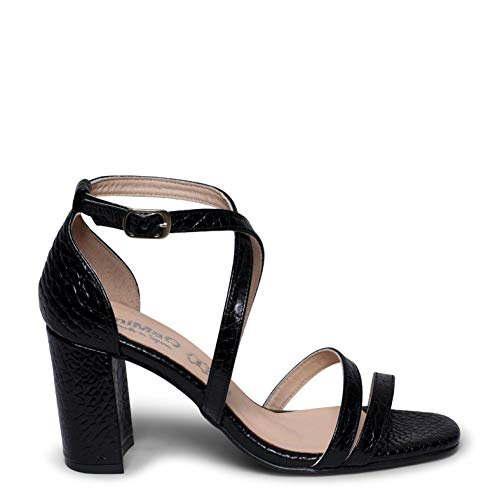 Zapatos miMaO. Zapatos Piel Mujer Hechos EN ESPAÑA. Sandalias Elegantes. Sandalias Bodas. Sandalias Cocktail. Sandalia Alta Cómoda Plantilla Confort Gel