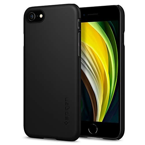 Spigen Thin Fit Kompatibel mit iPhone 7/8 Hülle, Slim PC Schale Hardcase Leicht Dünn Schutzhülle Handyhülle Case Schwarz 042CS20427