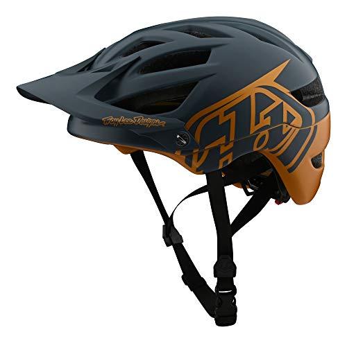 Troy Lee Designs - Casco clásico para bicicleta de montaña A1 MIPS (XL/XXL, gris/dorado)
