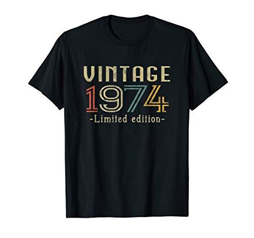 Vintage 1974 46th Birthday Gift Geschenk zum 46. Geburtstag T-Shirt