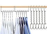 8 perchas mágicas para ropa, perchas de ahorro de espacio para armarios, perchas de metal, sistema de armario inteligente, percha de ropa multifunción para pantalones, vestido, ropa