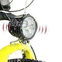 Greenergia 電動自転車ヘッドライト&ホーン 2 in 1 高輝度 防水 テールライト【スイッチ】付き