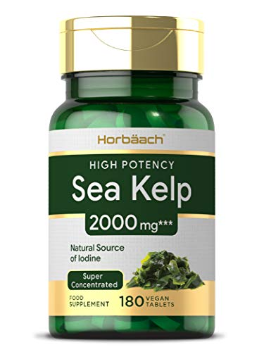 Sea Kelp 2000mg | 180 Vegan Tablets | Natural Source of Iodine | Non-GMO, Gluten Free Supplement