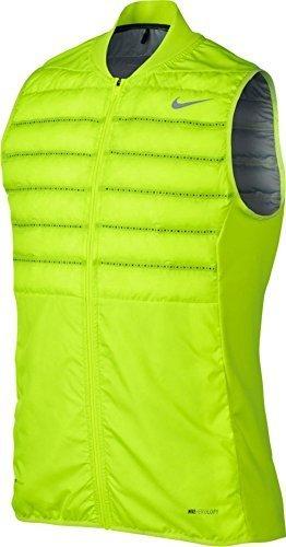 NIKE Men's Golf Aeroloft Vest (Volt, Large)