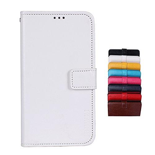 SHIEID Hülle für TP-LINK Neffos X9 Hülle Brieftasche Handyhülle Tasche Leder Flip Hülle Brieftasche Etui Schutzhülle für TP-LINK Neffos X9 mit Stand Funktion EIN Stent-Funktion (Weiß)