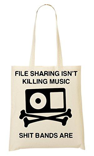 C+P File Sharing Isn'T Killing Music Tragetasche Einkaufstasche