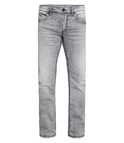 Camp David Denim voor heren, used look en lichte boot cut.
