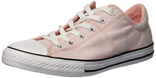 Converse Girls' Chuck Taylor All Star Madison Low Top Sneaker, Storm PinkWhite, 1 M US Little Kid
