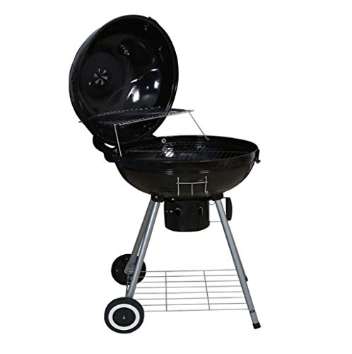 QHYY dubbele laag grote grills staal + emaille barbecue frame voor outdoor picknick familie diner