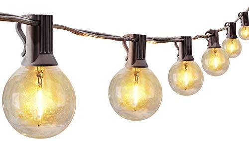 LED Lichterkette Außen Glühbirnen für Sommerabend,【30er LED Birnen】10M LED Lichterkette G40 Glühbirnen, Wasserdichte Lichterketten Deko für Garten Balkon Party und Innenzimmer, Warmweiß