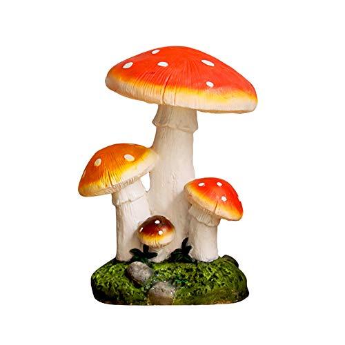 SDBRKYH Jardin Champignon Sculpture, Toadstool Jardin Micro-Paysager Aménagement du Champignon modèle en résine Painted extérieur Artisanat