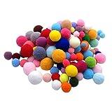 SUPVOX 160 peças de pompons de artesanato bolas de pompom felpudo adereço de jardim de infância bola fofa para decorações de artesanato criativas DIY