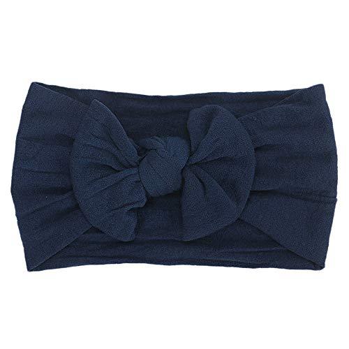 Huhu833 Baby Stirnbänder, Cute Baby Kleinkind Infant Circle Stirnband Stretch Haarband Headwear (Marine)