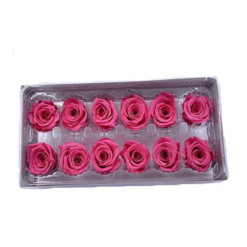 Fostudork Conservado 1 Caja Flores Flor Inmortal Rose 3 cm Diámetro Regalo Día de la Madre Eterna Vida Material Box, 05,3-4cm Y