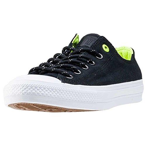 Converse Unisex-Erwachsene Chuck Taylor All Star II Shield OX Sneaker, Schwarz (schwarz schwarz), 37.5 EU