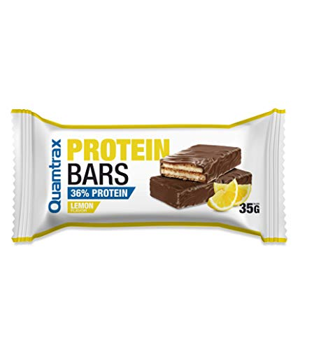 Quamtrax Nutrition Protein Bars - 32 barritas x 35 gr Lemon Chiffon