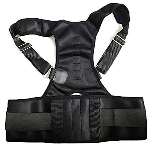 WENZHEN Rückenkorrektur, magnetisch verstellbare Therapiegurte Rückenkorrektur Halswirbelsäulenstützgürtel für Männer Frauen @ OneSize_M
