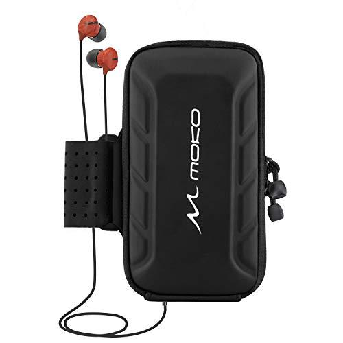 MoKo Brassard de Sport pour Pixel 4, Pixel 4 XL, iPhone 11 Pro, iPhone 11 Pro Max, iPhone XR, XS Max, Samsung Galaxy S10/S10 Plus/S10e/S9 Plus/S9, Téléphone Portable de 6,5 Pouces - Noir