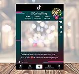 setecientosgramos Photocall TIKTOK | Ventana TIKTOK | Marco TIKTOK | PhotoBooth TIKTOK (Cartón 4mm) (90x120)