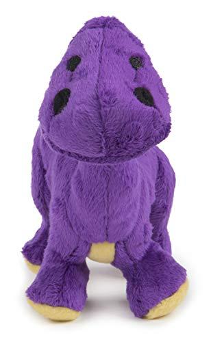 Quaker Pet Products goDog Spike Dino Jouet pour Chien avec Technologie Anti-Mastication, Autre, Violet, Small