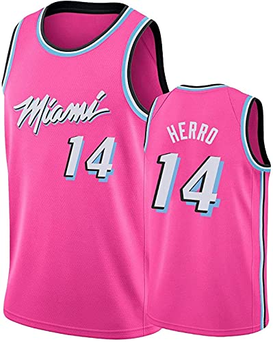 xzl Basketball Shorts und Tank NBA Trikots Gym Wear Tank Tops Swingman Jersey T Shirts Herren Atmungsaktiv Sport Kurzarm Pink - M