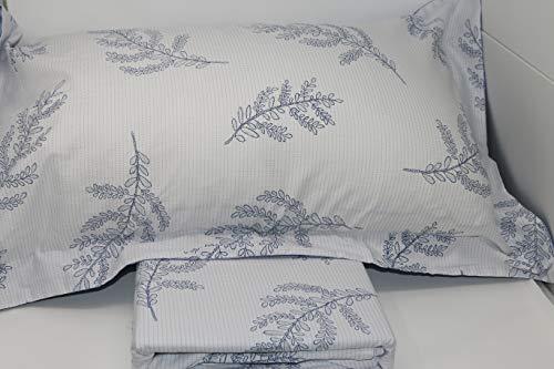 GF Ferrari - Funda nórdica para cama de matrimonio de percal de algodón puro (sin sábana bajera), diseño 42
