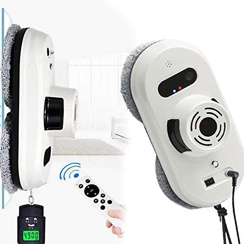 HNWTKJ Lavavetri Elettrico, Lavavetri Magnetico, Navigazione Intelligente, Ideale per Pulire Le Vetrate del Bagno (Color : White)