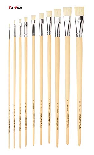 Da Vinci 23 Serie Bürste, chinesisch Borsten, Holz,für Öl, Acryl, Gouache,1,2,4,6,8,10,12,14,16,18, Made in Germany