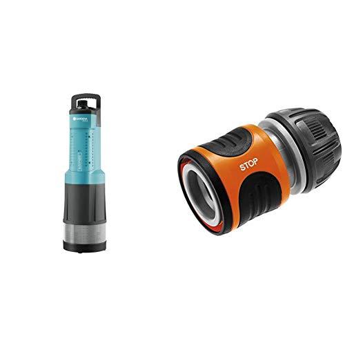 GARDENA Comfort Tauch-Druckpumpe 6000/5 automatic: Tauchpumpe mit 6.000 l/h Fördermenge & Wasserstop 13 mm (1/2