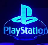 3D Illusion Lampe Playstation Gaming Room Schreibtisch Setup Beleuchtung...
