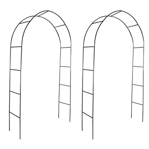 SENLUOWX Belle arche de jardin Option parfaite pour plantes grimpantes 2 unités 140 x 39 x 240 cm