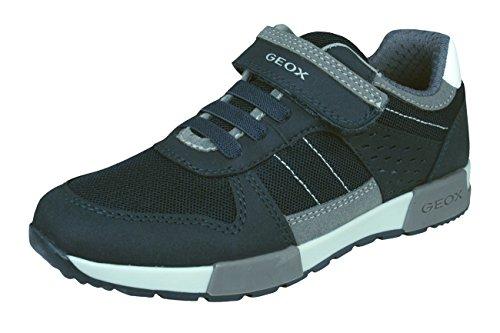 Geox J ALFIER Boy A, Zapatillas para Niños, Azul (Navy/Grey), 24 EU