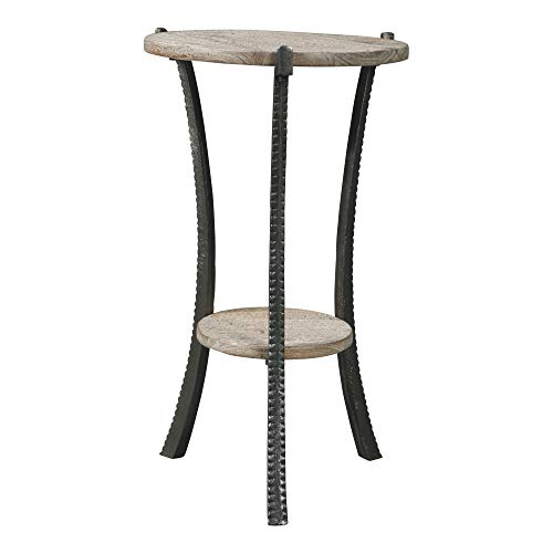Signature Design by Ashley - Enderton Accent Table - Casual - White Wash/Pewter