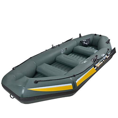Topashe lancha motora Kayak,Bote Inflable Engrosado, Bote de Goma PVC-1.92m,Engrosado Bote Inflable de