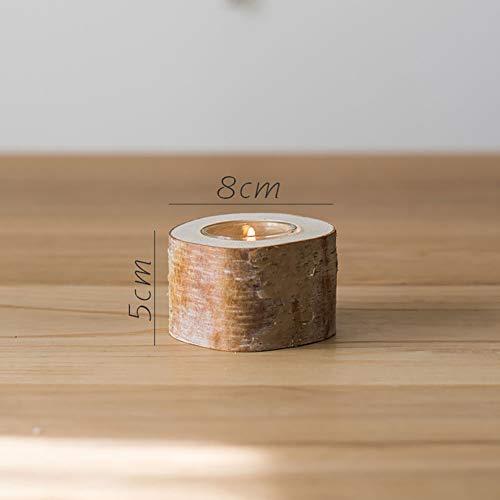 Birke Kerzenhalter Natürliche Baumstamm Dekoration Ornamente Desktop Boden Party Hochzeit Set Requisiten